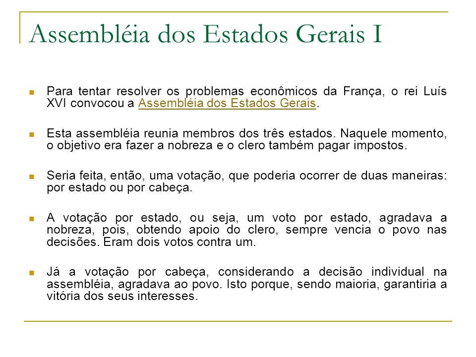 Assembléia dos Estados Gerais I
