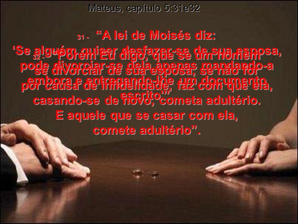Mateus, capítulo 5:31e32