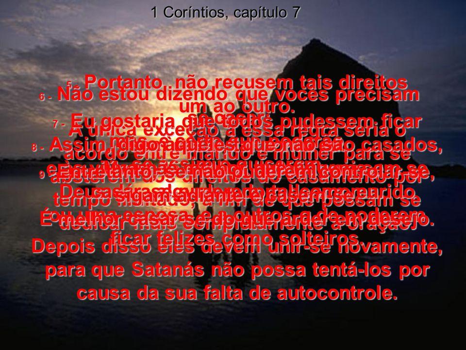 1 Coríntios, capítulo 7