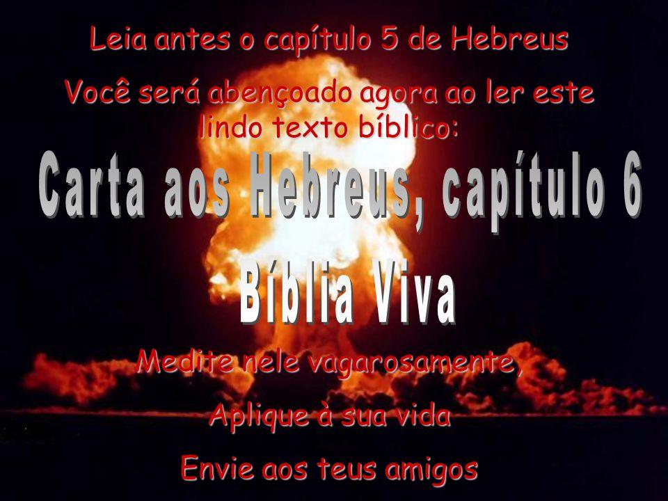Carta aos Hebreus, capítulo 6 Bíblia Viva