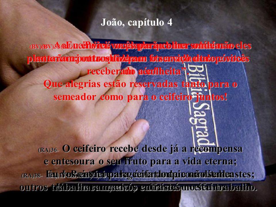 (BV)37- Pois é verdade que um semeia e outro qualquer faz a colheita.