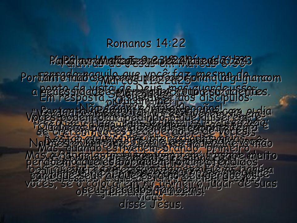 Palavras de Jesus em Mateus 6:31a33