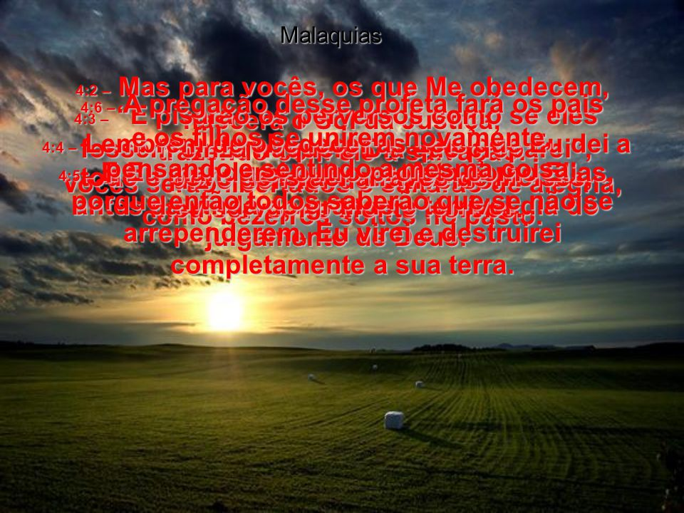 julgamento de Deus. Malaquias