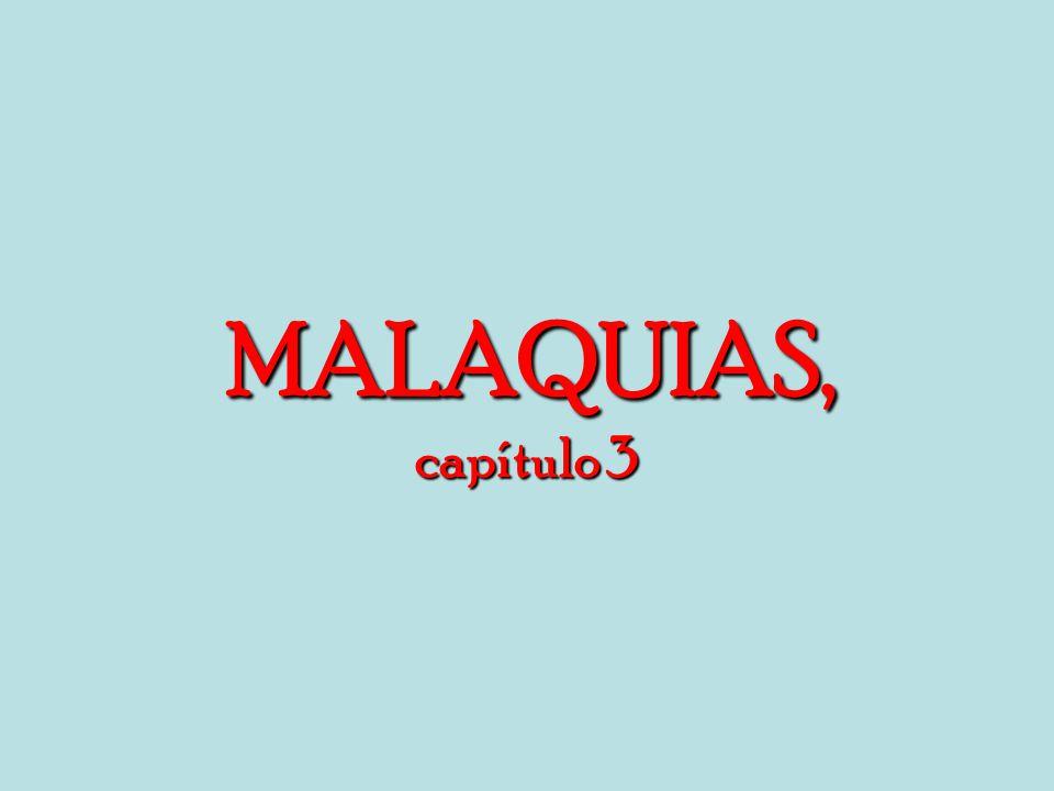 MALAQUIAS, capítulo 3