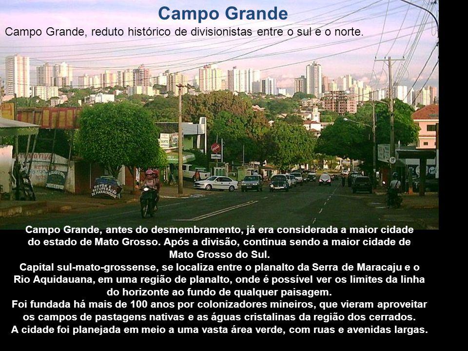 Campo Grande Campo Grande, reduto histórico de divisionistas entre o sul e o norte.
