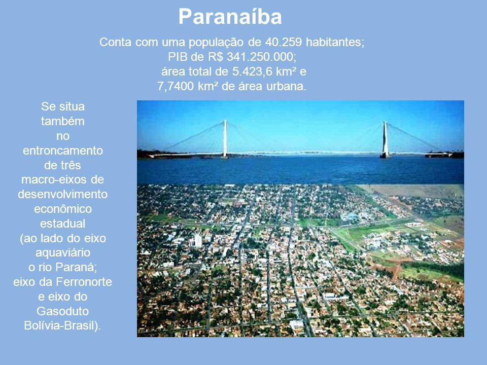 Paranaíba Conta com uma população de 40.259 habitantes;