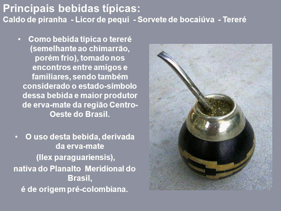 Principais bebidas típicas: