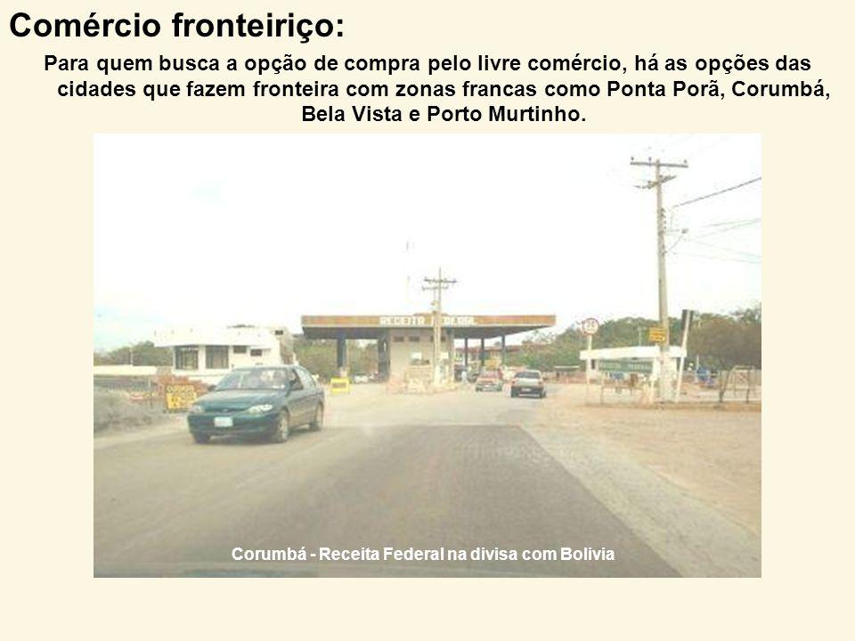 Corumbá - Receita Federal na divisa com Bolivia
