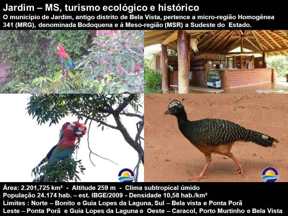 Jardim – MS, turismo ecológico e histórico