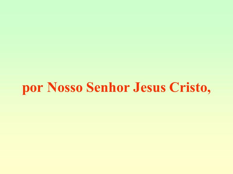 por Nosso Senhor Jesus Cristo,