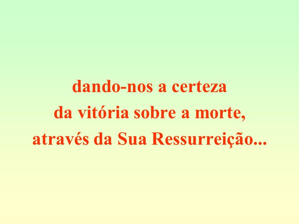 da vitória sobre a morte, através da Sua Ressurreição...
