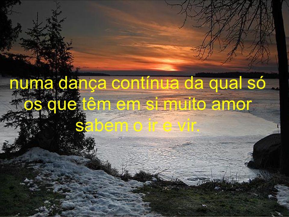 numa dança contínua da qual só os que têm em si muito amor sabem o ir e vir.