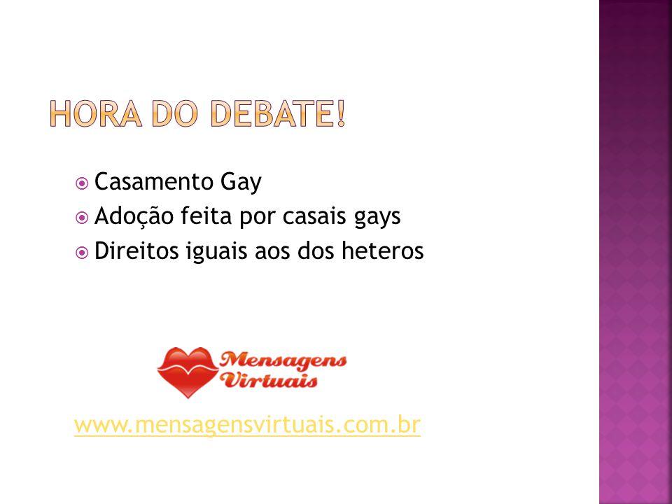 Hora do Debate! Casamento Gay Adoção feita por casais gays
