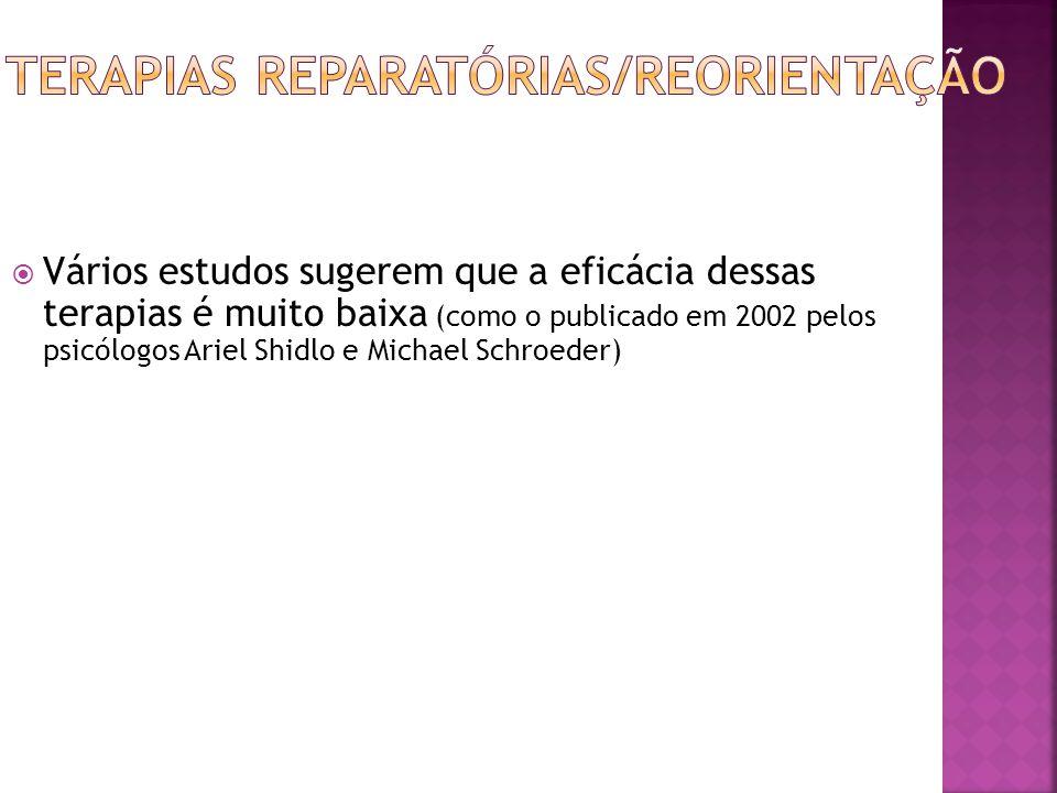 Terapias reparatórias/reorientação