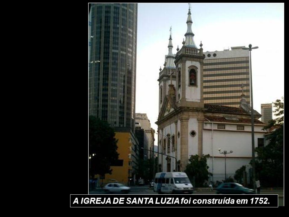 A IGREJA DE SANTA LUZIA foi construída em 1752.