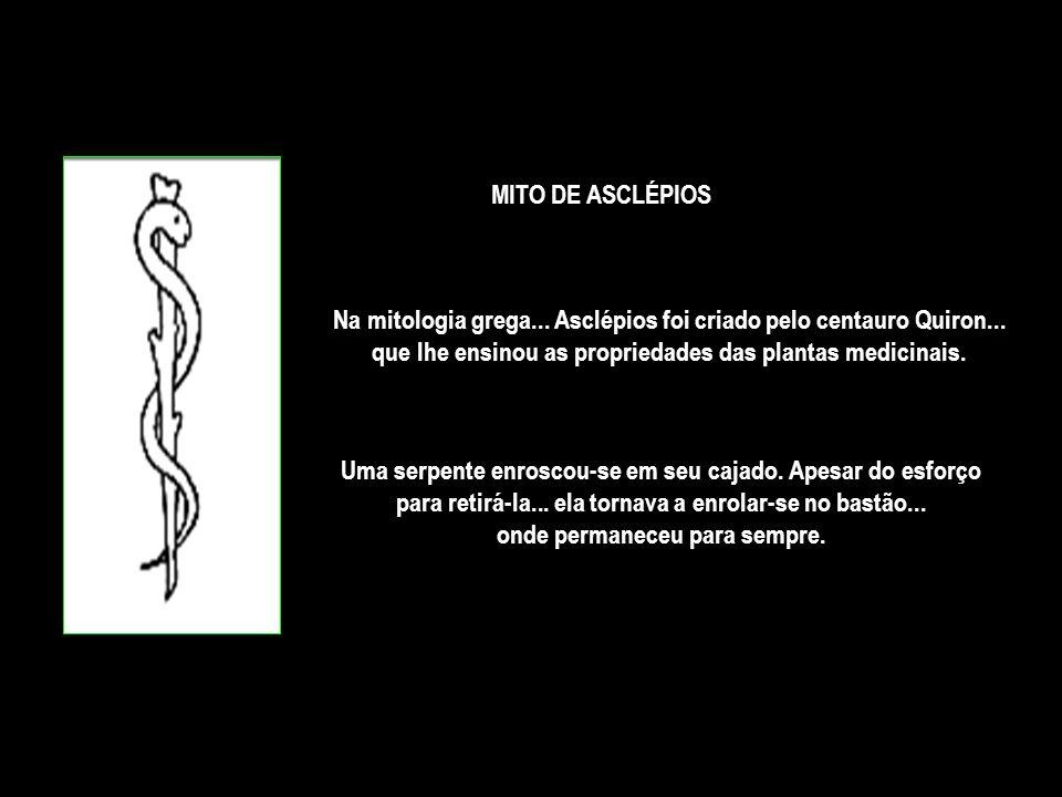 Na mitologia grega... Asclépios foi criado pelo centauro Quiron...