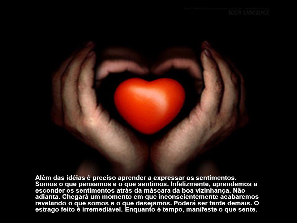 Além das idéias é preciso aprender a expressar os sentimentos