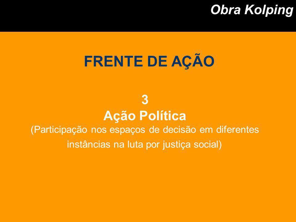 FRENTE DE AÇÃO Obra Kolping 3 Ação Política