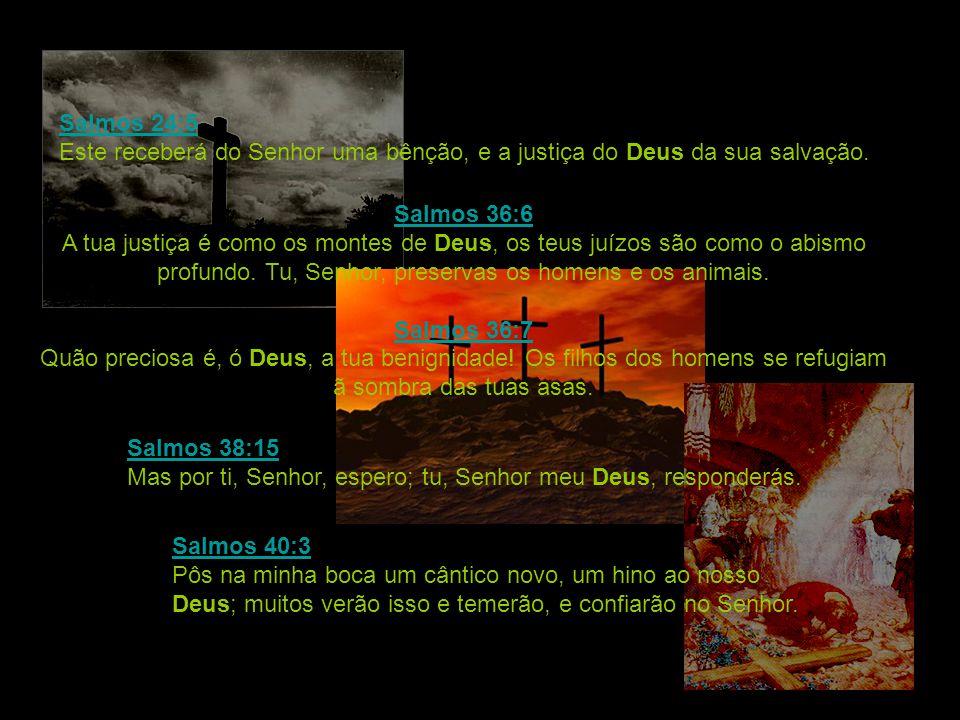 Salmos 24:5 Este receberá do Senhor uma bênção, e a justiça do Deus da sua salvação.