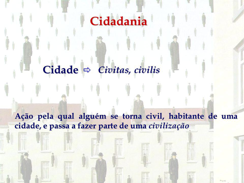 Cidadania Cidade  Civitas, civilis