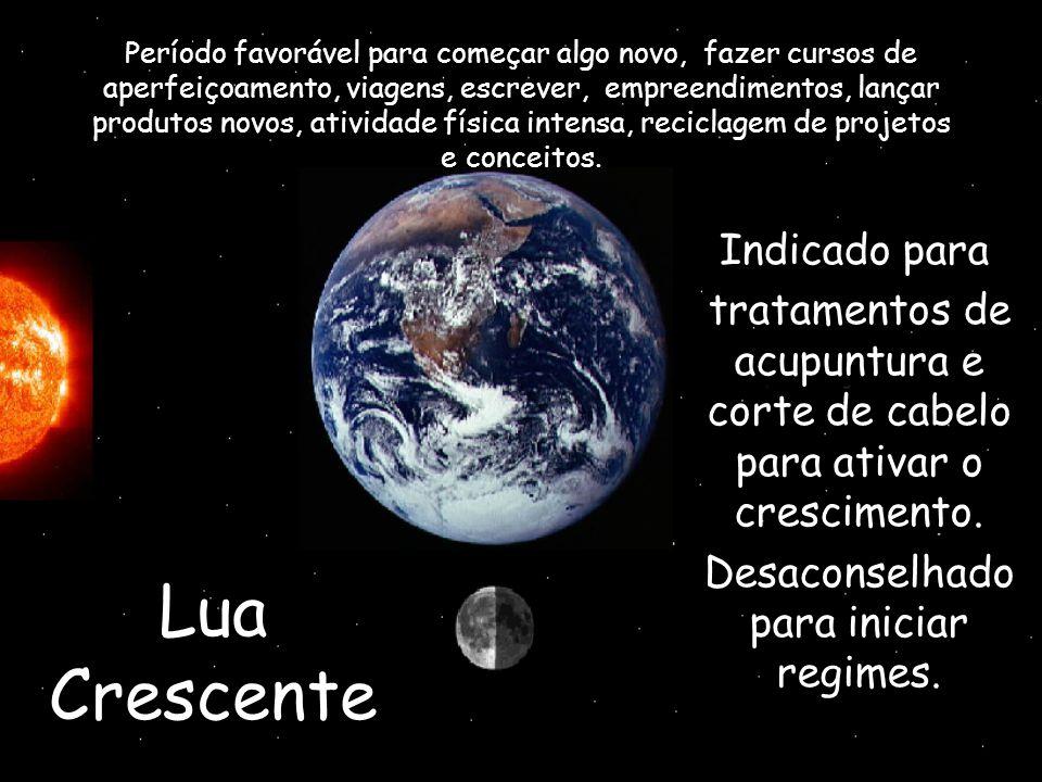 Lua Crescente Indicado para