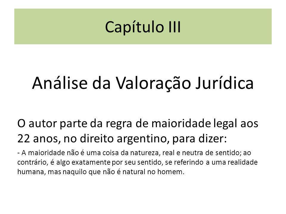 Análise da Valoração Jurídica