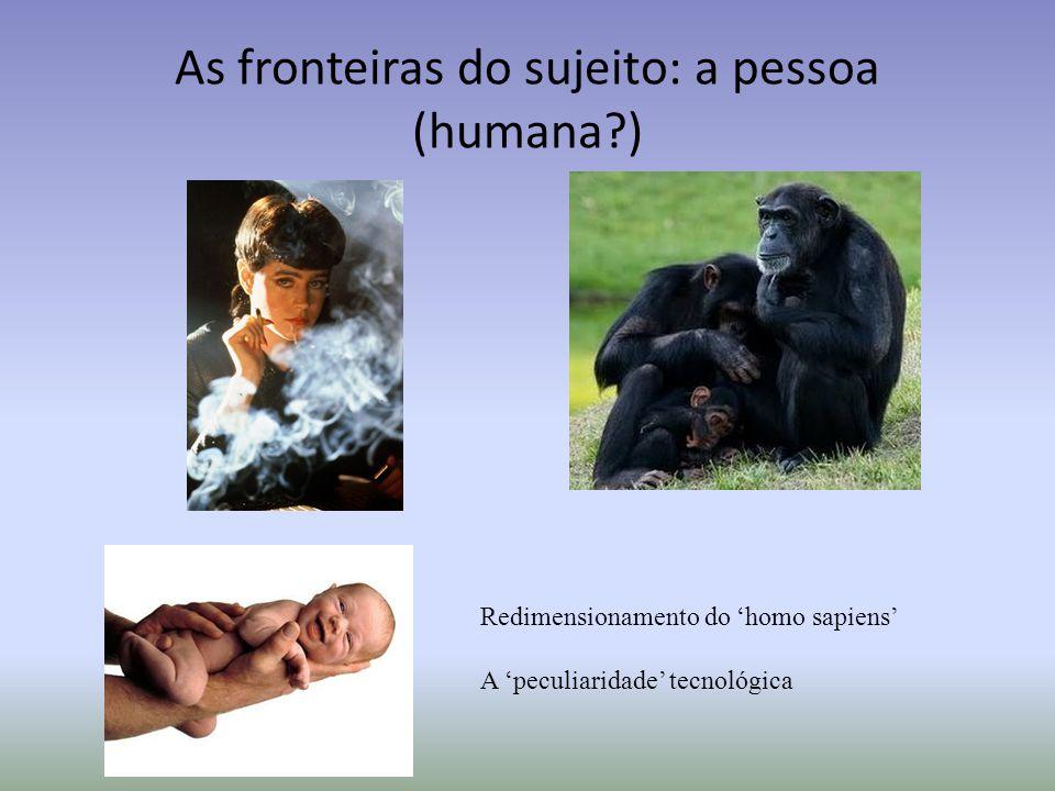 As fronteiras do sujeito: a pessoa (humana )