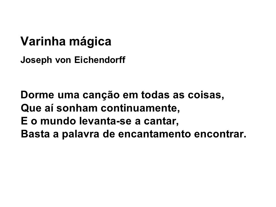 Varinha mágica Joseph von Eichendorff.