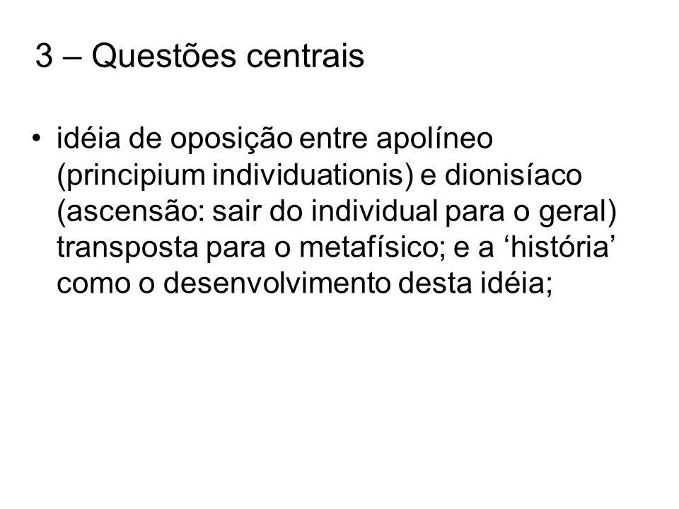 3 – Questões centrais