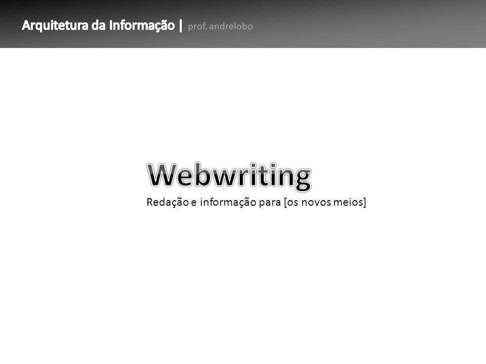 Webwriting Arquitetura da Informação | prof. andrelobo