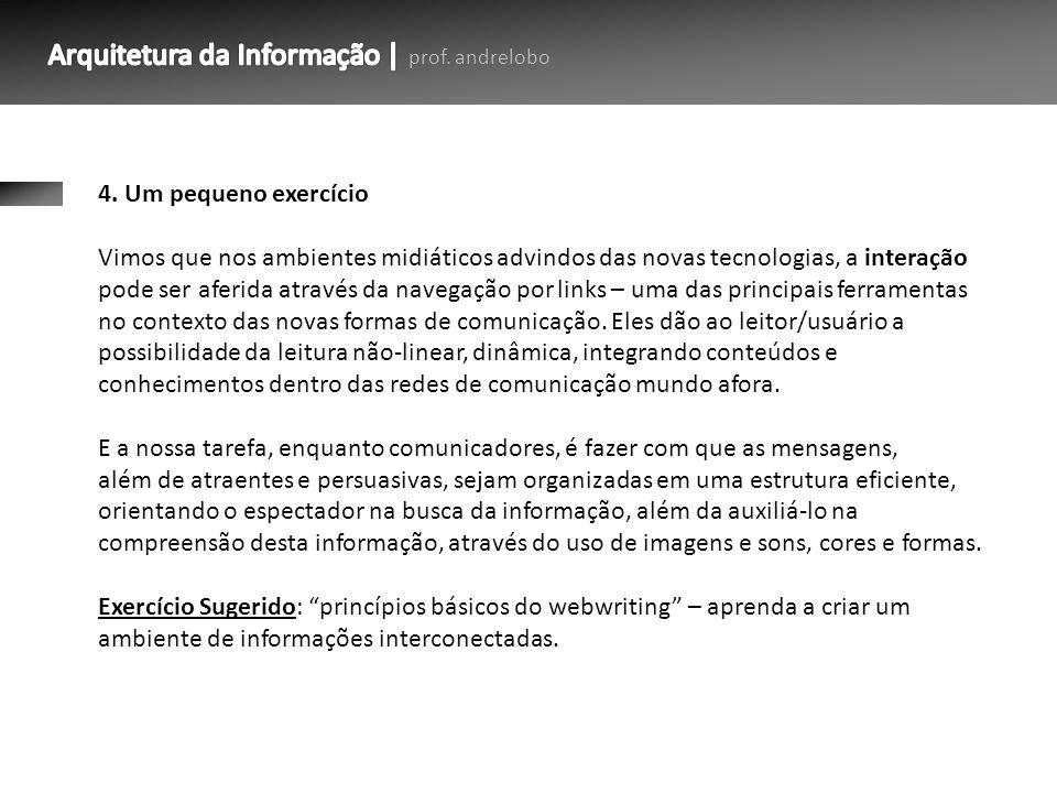 Arquitetura da Informação | prof. andrelobo