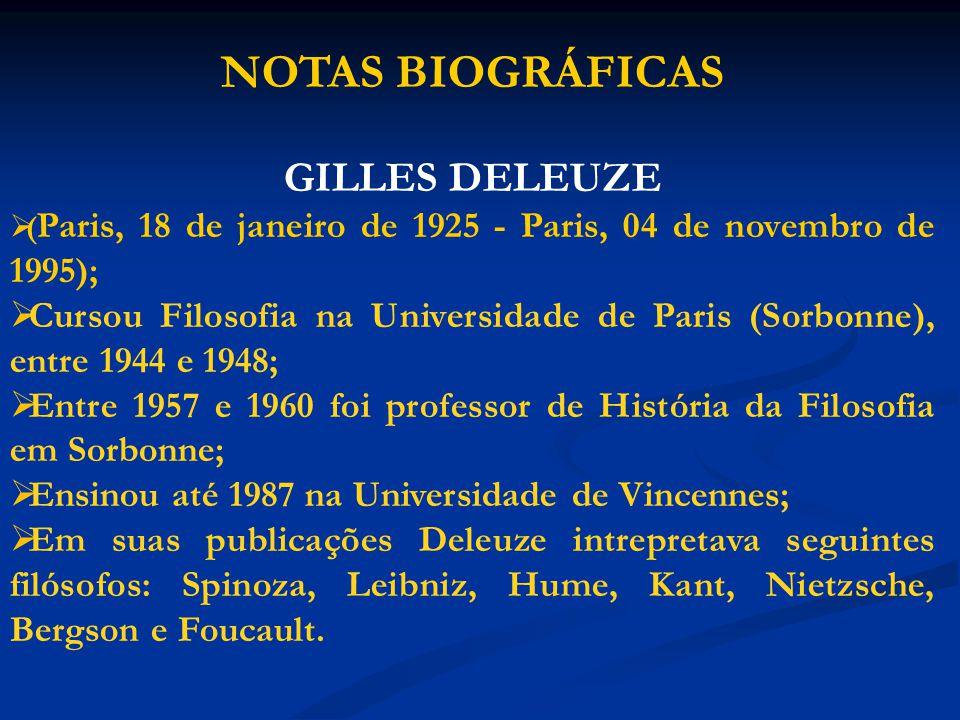 NOTAS BIOGRÁFICAS GILLES DELEUZE