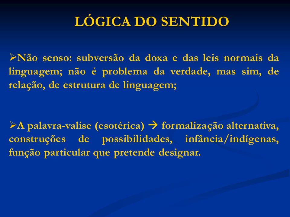 LÓGICA DO SENTIDO