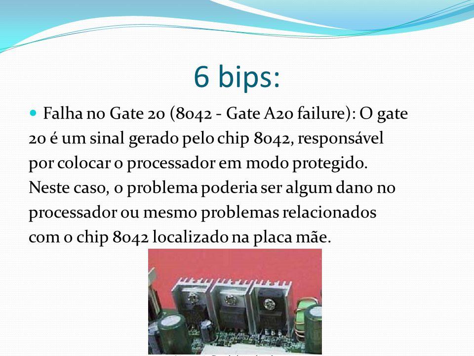 6 bips: Falha no Gate 20 (8042 - Gate A20 failure): O gate