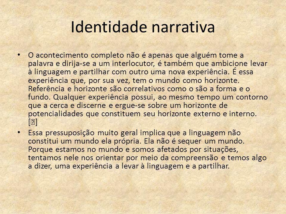 Identidade narrativa
