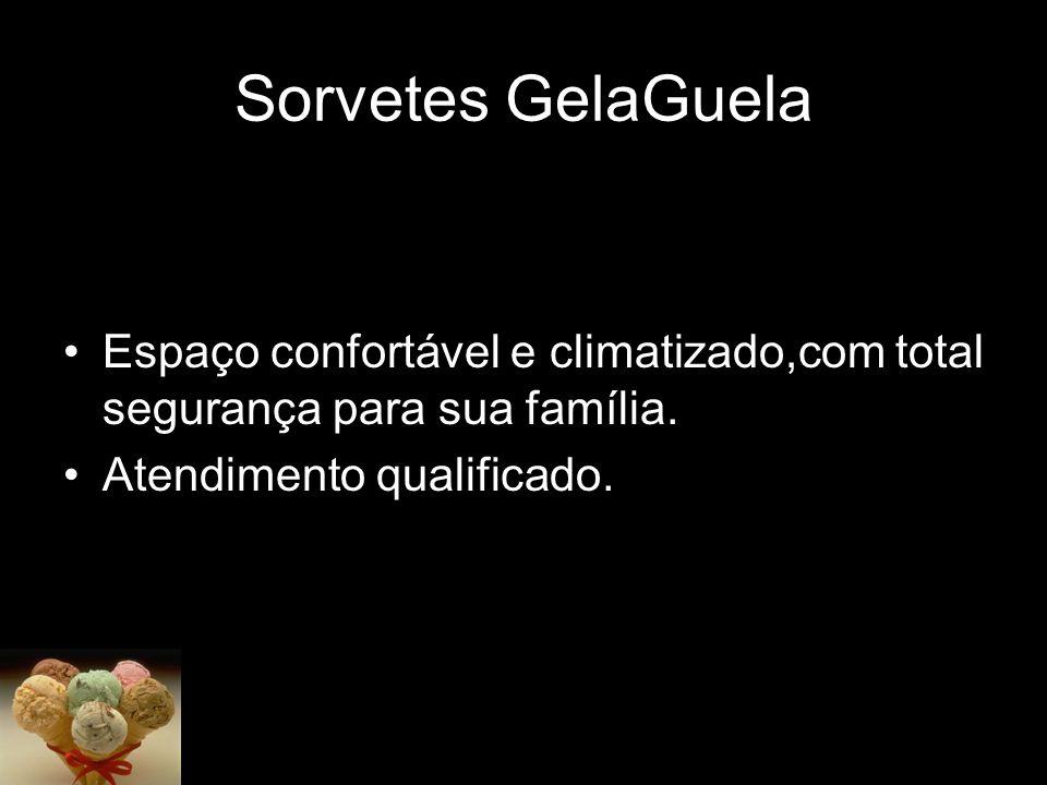Sorvetes GelaGuela Espaço confortável e climatizado,com total segurança para sua família.