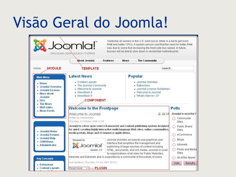 Visão Geral do Joomla!