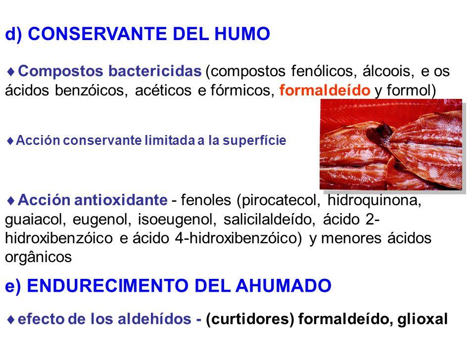 d) CONSERVANTE DEL HUMO