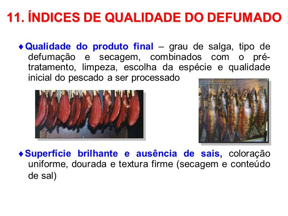 11. ÍNDICES DE QUALIDADE DO DEFUMADO