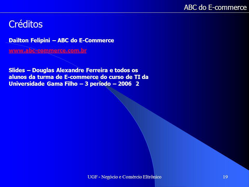 UGF - Negócio e Comércio Eltrônico