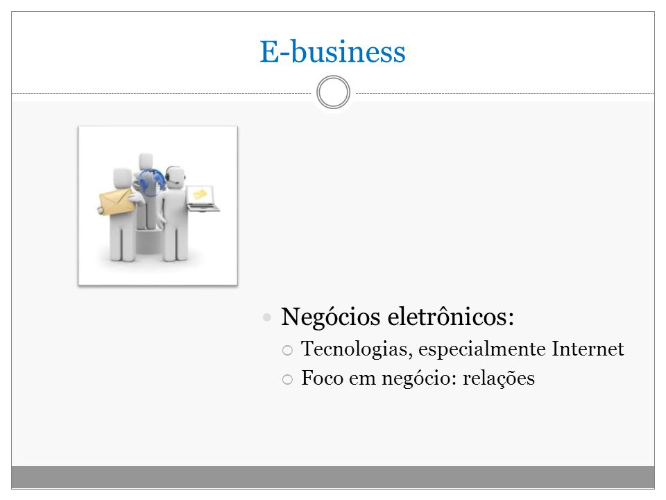 E-business Negócios eletrônicos: Tecnologias, especialmente Internet