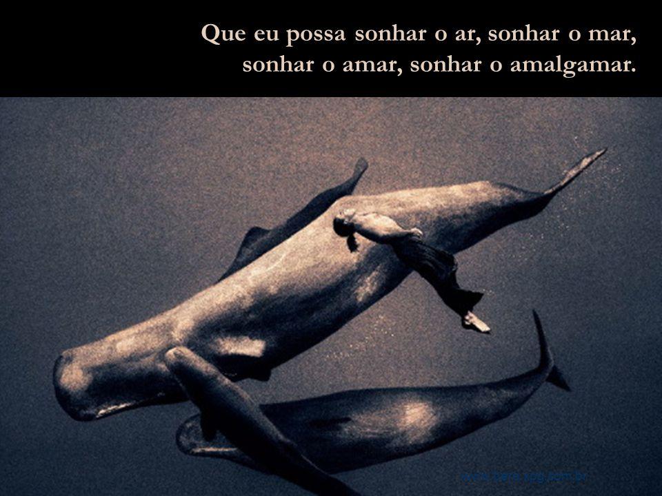 Que eu possa sonhar o ar, sonhar o mar,