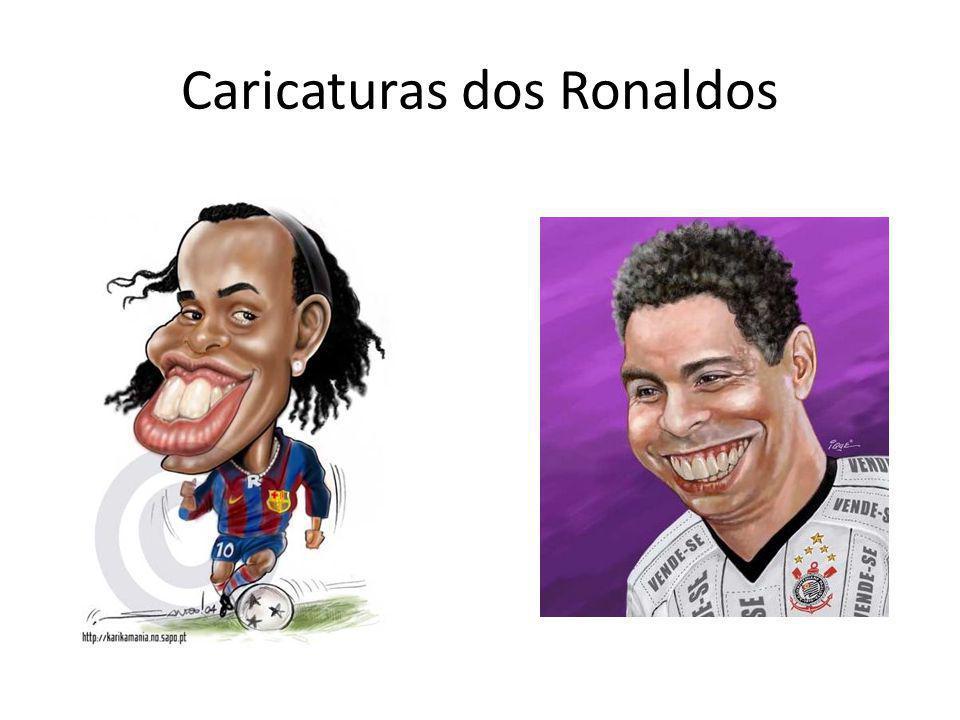 Caricaturas dos Ronaldos