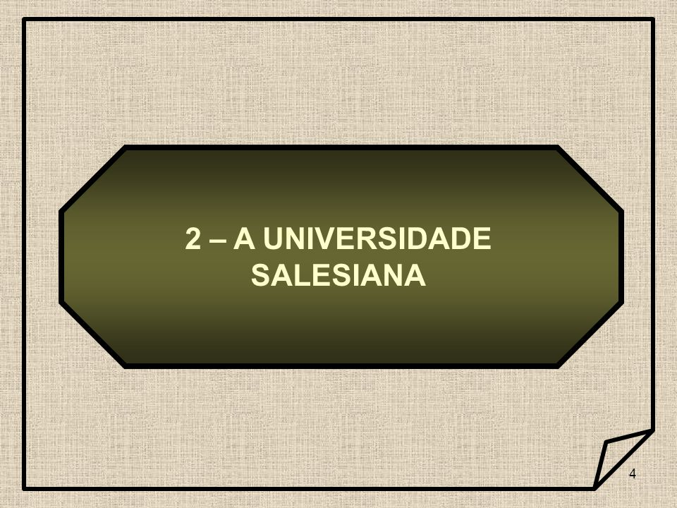 2 – A UNIVERSIDADE SALESIANA
