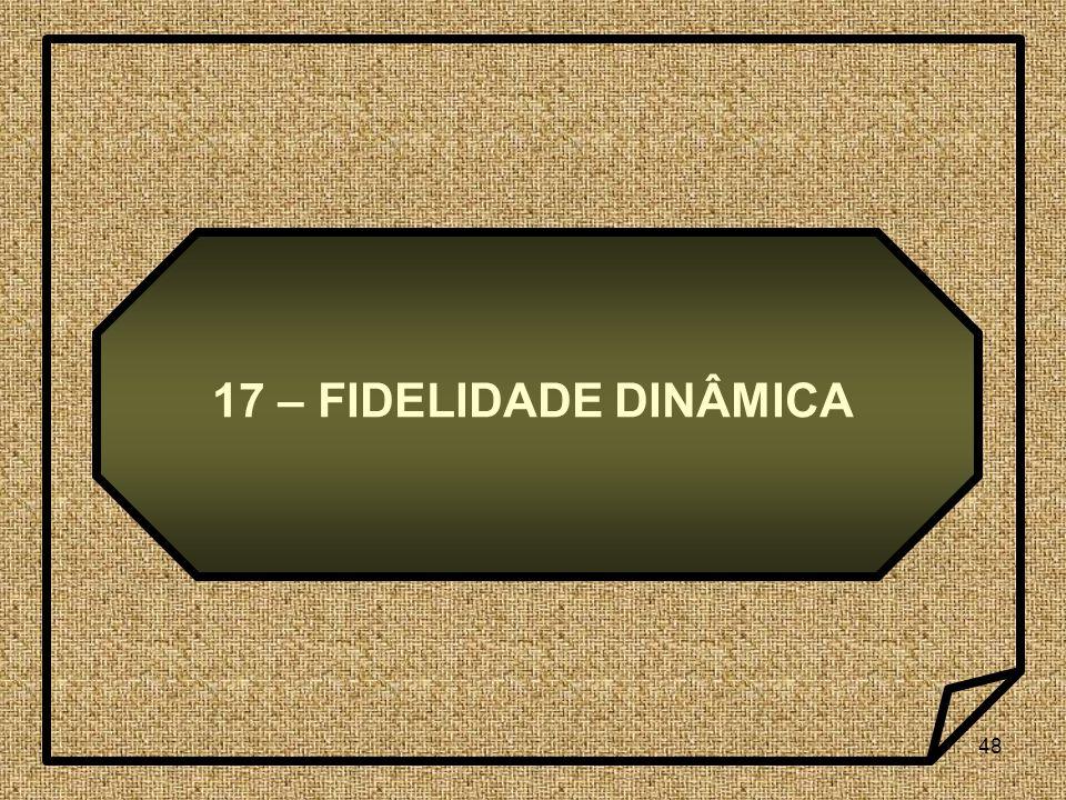 17 – FIDELIDADE DINÂMICA