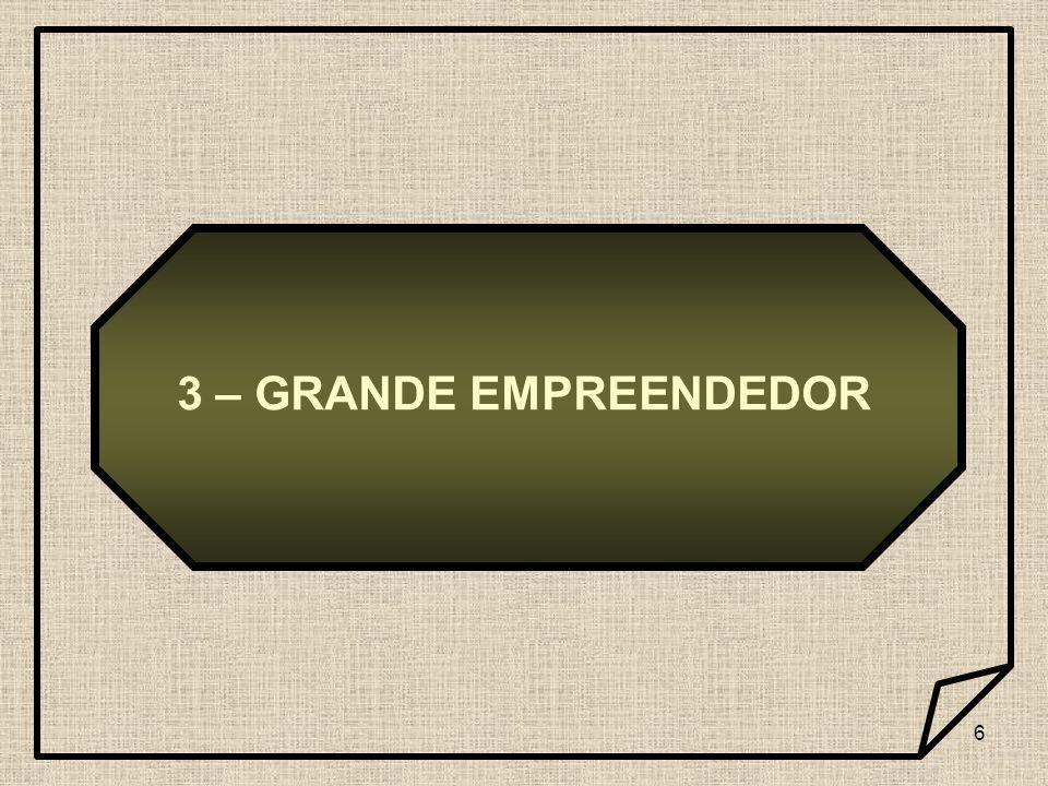 3 – GRANDE EMPREENDEDOR