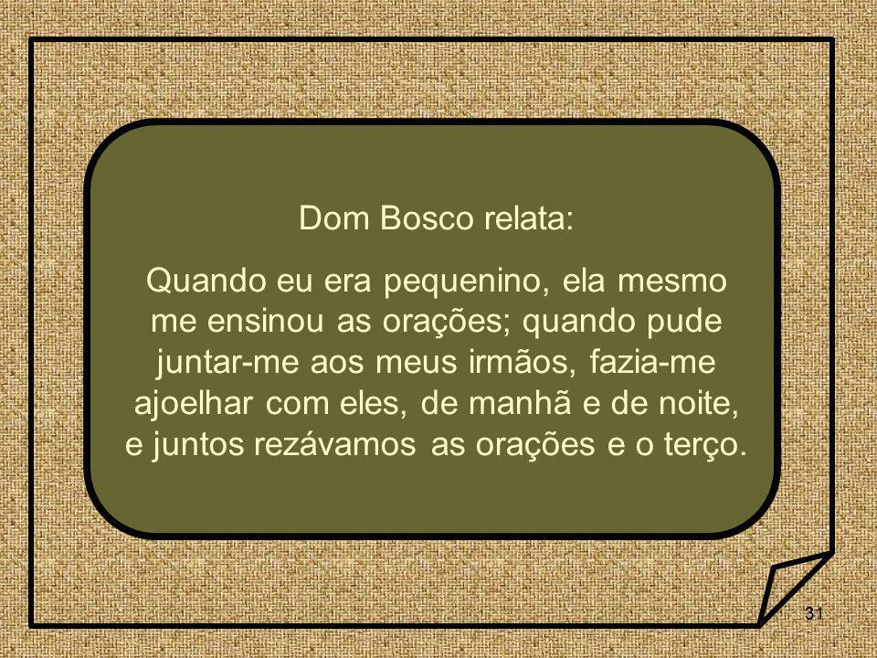 Dom Bosco relata: