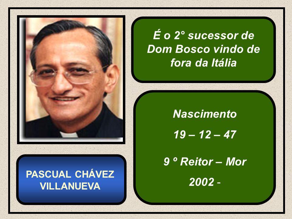É o 2° sucessor de Dom Bosco vindo de fora da Itália