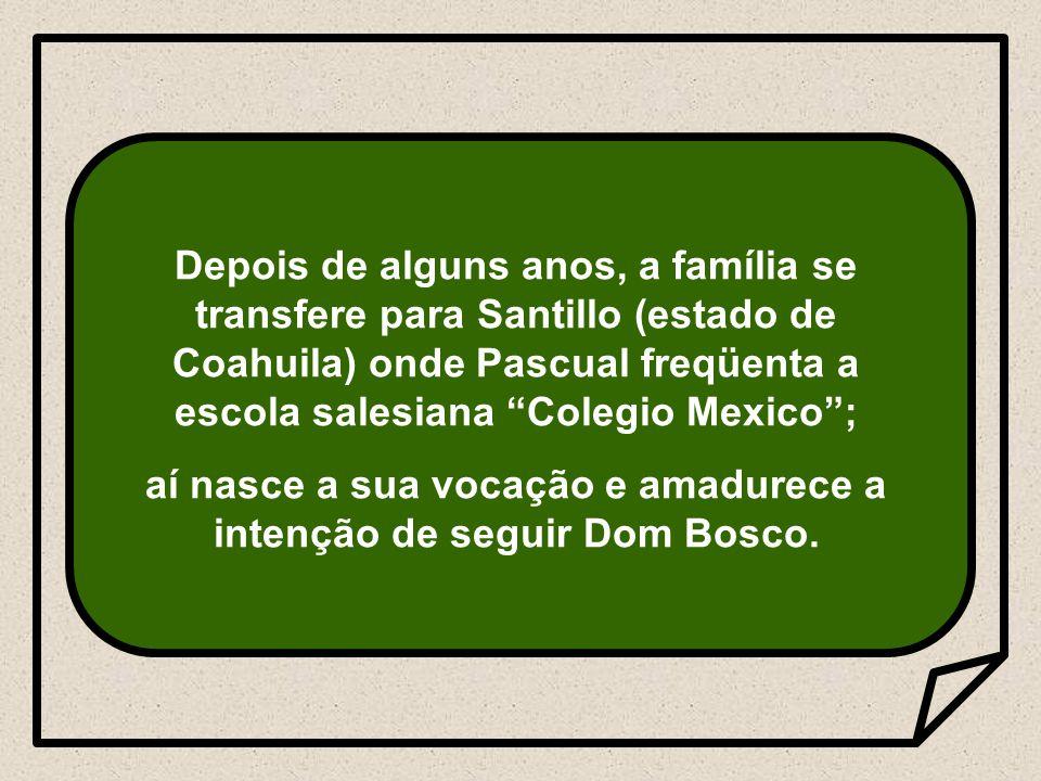 aí nasce a sua vocação e amadurece a intenção de seguir Dom Bosco.