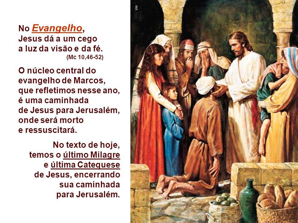 O núcleo central do evangelho de Marcos, que refletimos nesse ano,